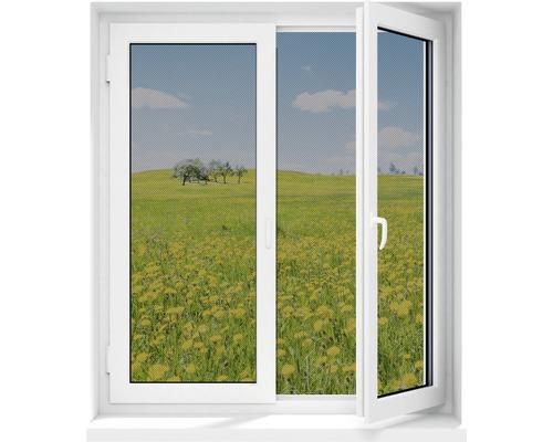 Moustiquaire pour fenêtre EASYmaxx Magic Klick fenêtre moustiquaire magnétique noir 150x130cm