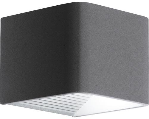 Applique extérieure LED 6W 600 lm 3000 L blanc chaud Doninni anthracite/blanc 135x120 mm IP44