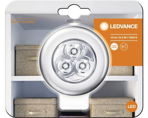 Éclairage LED à coller veilleuse Ø 65 mm Ledvance Classic Dot-it argent