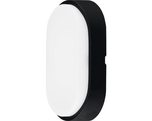 Applique murale LED IP54 10W 700 lm 4000 K blanc neutre ovale blanc/noir hxlxp 212/119/60,5 mm