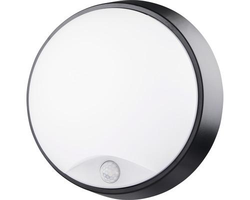 Applique murale LED à capteur IP54 10W 700 lm 4000 K blanc neutre ronde blanc/noir Øxp 215/80 mm