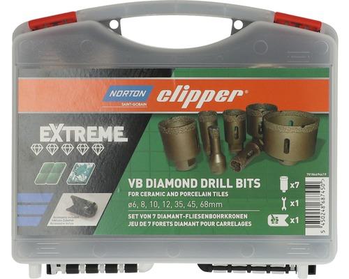 Couronne de forage diamantée coffre Norton Clipper Extreme Ø6-68 mm-0