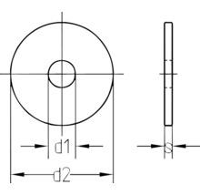 Rondelles à garde-boue 8,4x20 mm galvanisées, 100 unités-thumb-1