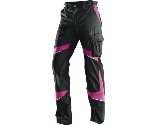 Pantalon pour femme Kübler Activiq, noir/rose vif, taille 34