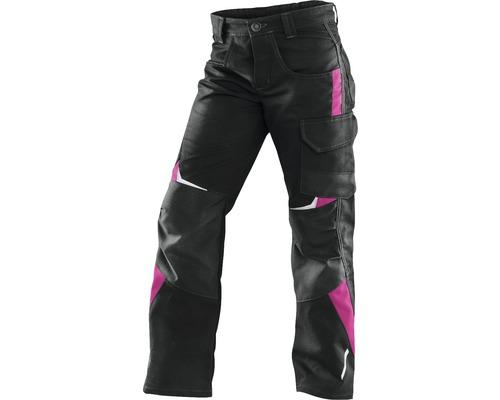 Pantalon pour enfant Kübler Kidz, noir/rose vif, taille 98-104