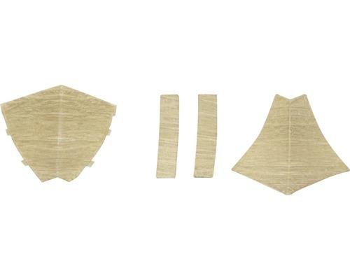 Zubehörset für Wandabschlussprofil 23 Eiche 4 Stück