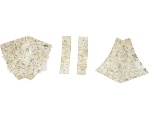 Zubehörset für Wandabschlussprofil 23 Oldstone 4 Stück
