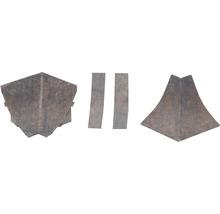 Kit d'accessoires pour profilé de raccordement mural 23 Rusty Iron 4pièces-thumb-0