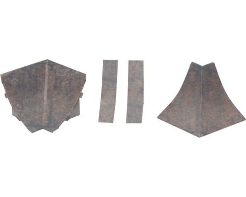 Kit d'accessoires pour profilé de raccordement mural 23 Rusty Iron 4pièces-0