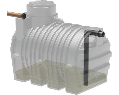 Système d''aspiration pour réservoir d''eaux usées / de matières fécales