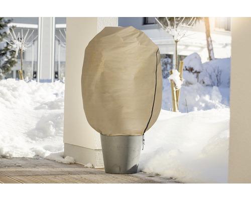 Housse d''hivernage intissée FloraSelf Protect XXL 2x1,4 m beige