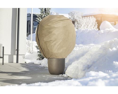 Housse d''hivernage intissée FloraSelf Protect 1,8x0,6 m beige