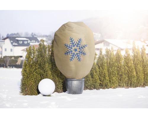 Housse d''hivernage décorative FloraSelf Protect XXL 2x1,4 m beige