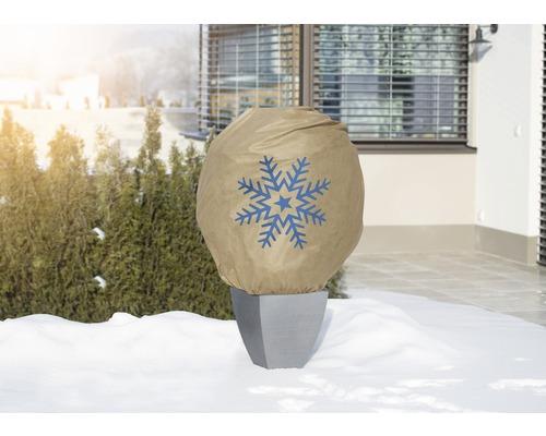 Housse d''hivernage décorative FloraSelf Protect XL 1,1x1,1 m beige