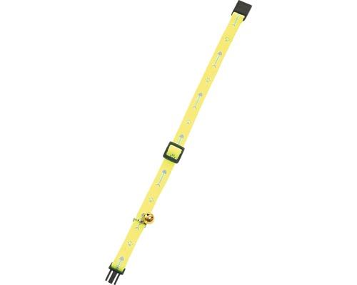 Katzenhalsband Karlie mit Sicherheitsverschluss und Glöckchen 10 mm 15-25 cm gelb
