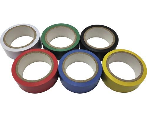 Set de rubans adhésifs d''isolation l 19 mm x L 5 m 6 pièces