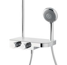 Colonne de douche avec thermostat Breuer Quick 72 Aquamaxx 340 pomme haute ronde chrome 1294008000099-thumb-5