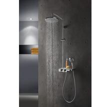 Colonne de douche avec thermostat Breuer Quick 72 Aquamaxx 340 pomme haute ronde chrome 1294008000099-thumb-2