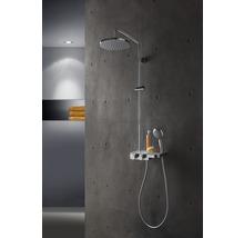 Colonne de douche avec thermostat Breuer Quick 72 Aquamaxx 340 pomme haute ronde chrome 1294008000099-thumb-1
