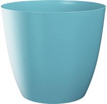 Pot de fleurs Ella gloss plastique Ø9 H8cm bleu-thumb-0