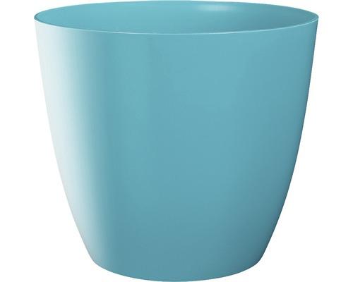 Pot de fleurs Ella gloss plastique Ø9 H8cm bleu-0