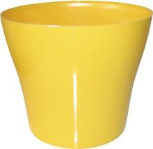 Pot de fleurs Tulipan gloss plastique Ø13 H10,9cm jaune-thumb-0