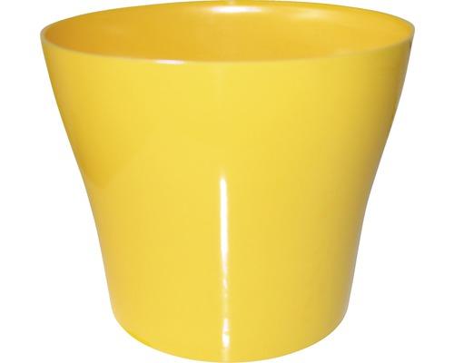 Pot de fleurs Tulipan gloss plastique Ø13 H10,9cm jaune-0