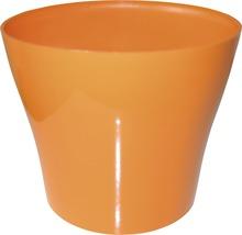 Pot de fleurs Tulipan gloss plastique Ø13 H10,9cm orange-thumb-0
