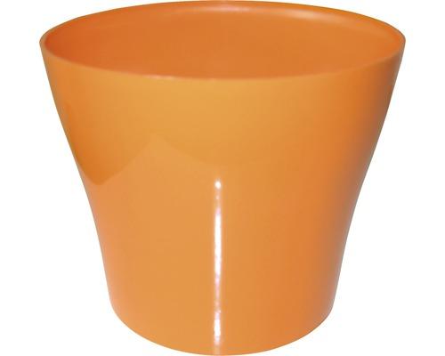 Pot de fleurs Tulipan gloss plastique Ø13 H10,9cm orange-0