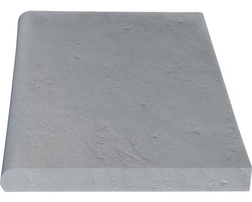 Bordure de piscine margelle Margo élément droit gris perle 49,5 x 31 x 3,2 cm