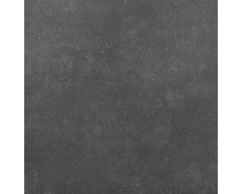 Dalle de terrasse en grès cérame fin Hometec black mat 60x60x2 cm