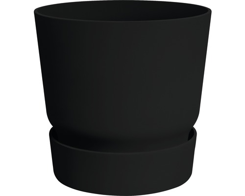 Pot de fleurs elho greenville Ø30 H27,8cm noir avec soucoupe-0