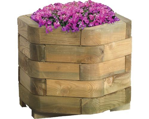 Pot de fleurs Toscana bois 50x50x35 cm naturel