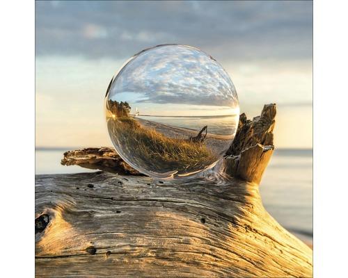 Tableau en verre Drop On Wood 50x50 cm