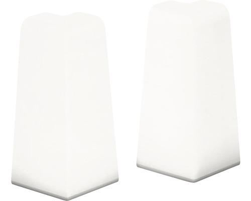 Angles extérieurs pour plinthe en MDF blanc 18x58 mm-0