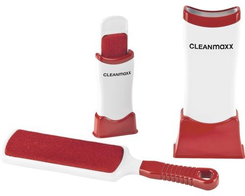 Ensemble de brosses anti-poils CLEANmaxx 4 pièces rouge