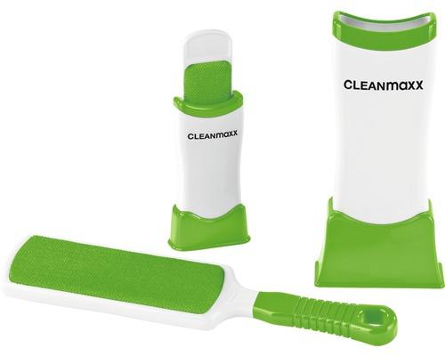 Ensemble de brosses anti-poils CLEANmaxx 4 pièces vert