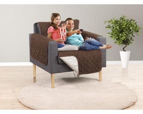 Couverture pour canapé EASYmaxx Couch Coat fauteuil 180x170 cm marron-beige