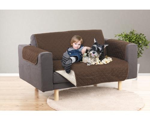 Couverture pour canapé EASYmaxx Couch Coat 2 places 180x240 cm marron-beige