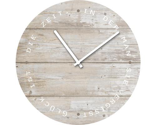 Horloge murale en verre Wooden Style Ø 20 cm