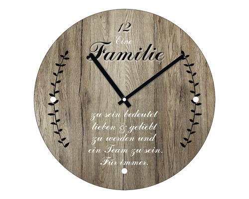 Horloge murale en verre Familie I Ø 20 cm