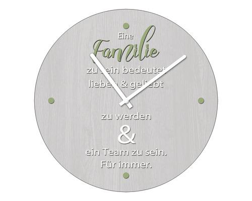 Horloge murale en verre Familie II Ø 20 cm
