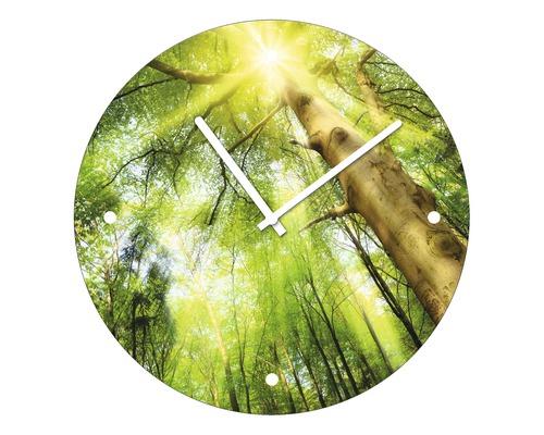 Horloge murale en verre Towards The Sun Ø 20 cm