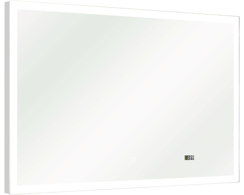 LED Badspiegel mit Uhr pelipal Filo Rustico 70x110 cm IP44