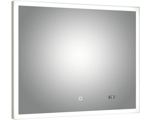 LED Badspiegel mit Uhr pelipal Filo Rustico 70x90 cm IP44