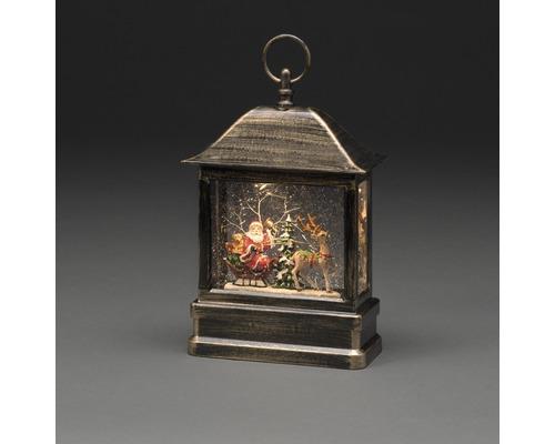 Lanterne LED enneigée avec Père Noël Konstsmide