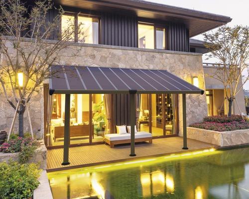 Toiture pour terrasse PALRAM Gala 3x5,4 541x295 cm taupe