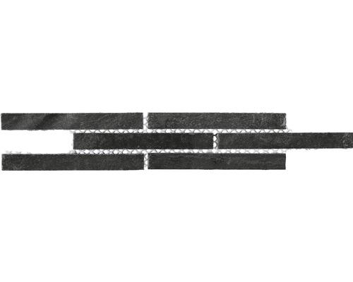 Bordure en pierre naturelle CM-57115, aspect ardoise, 24,5 x 4,8 cm