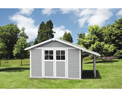 Abri De Jardin Grosfillex Lodge Deco Kit L Avec Toit En Appentis