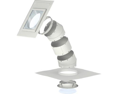 Spot lumière du jour VELUX TLR 0K10 pour toit incliné avec matériaux de recouvrement plats 36x36 cm avec tube rigide